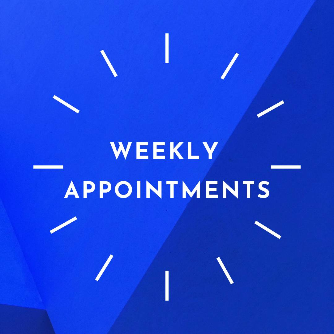 click here to learn more about weekly appointments